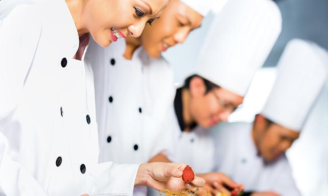 Culinary Arts Students Training in class