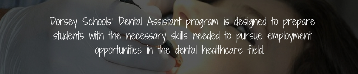 Dental Assistant Program Banner