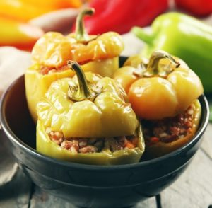 Vegan Thanksgiving Recipes Stuffed Peppers