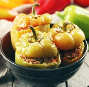Vegan Thanksgiving Recipes Stuffed Peppers