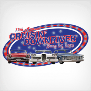 The 17th annual Cruisin' Downriver will begin at 10 a.m. June 25, 2016 and cruise through the cities of Lincoln Park, Southgate, Wyandotte, and Riverview.