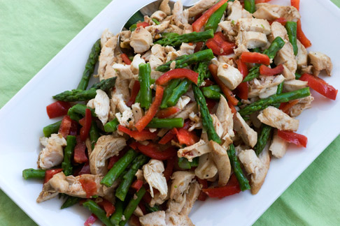 Cooking School Recipes Chicken Salad With Asparagus