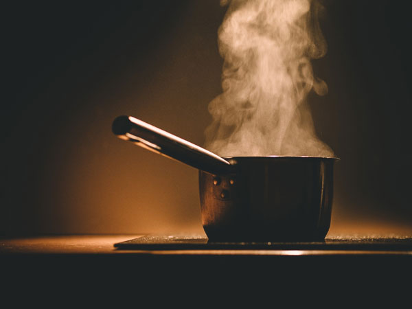 Pot of Water Boiling on Stove - Dorsey Culinary Academy