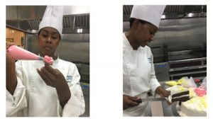Decorating A Cake At Our Roseville Culinary Academy Campus