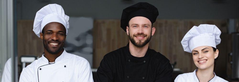 Culinary arts training students